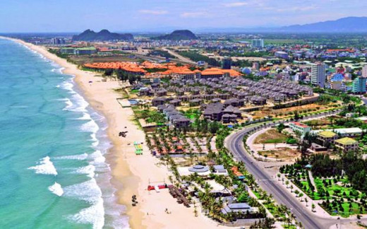 Foreign-invested resorts along the beaches have completely change the face of Danang, Vietnam
