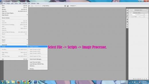 Photoshop CS3 Image Processor Batch Resize Tutorial.