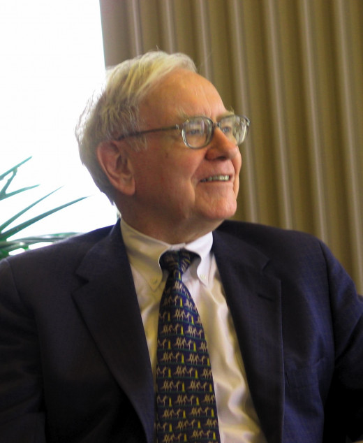 Warren Buffett speaking to a group of students from the Kansas University School of Business