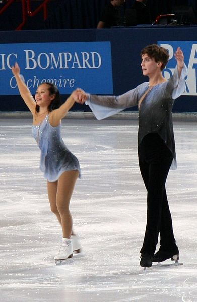 Felicia Zhang and Nathan Bartholomay, last year's silver medalists. Now split (Zhang retired). Bartholomay is here with a new partner. Image is free to use.