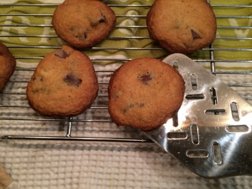 Remove from pan to a cooling rack