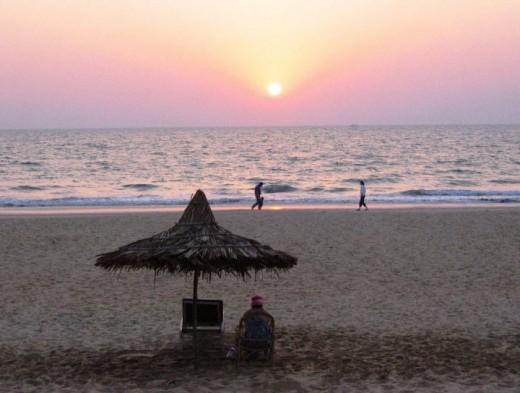 Sernabatim beach sunset