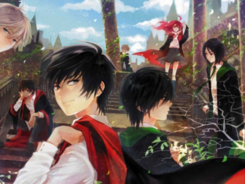 This is an anime-style version of the Harry Potter series by J.K. Rowling featuring several characters like Sirius Black, James Potter, Lily Evans and Severus Snape. Yup, Pinterest has awesome pics like this and a whole lot more.