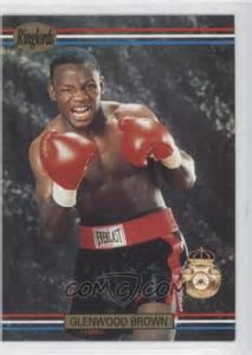 Glenwood Brown is seen here on a Ringlords boxing card.