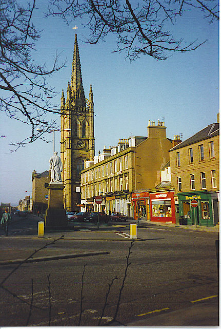 The Steeple, Montrose. At the south end of the High Street