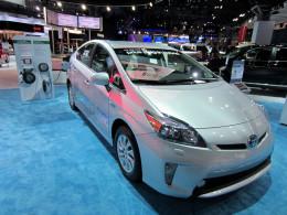 A popular plug in car, the Prius
