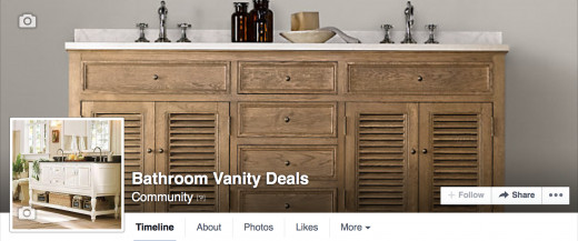 Follow me on Facebook for updates on Bathroom Vanity sales and coupons.