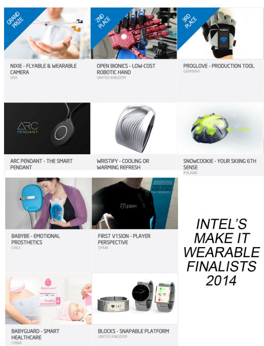 Intel's Make it Wearable finalists