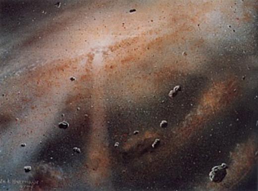 Artist's conception of the solar nebula