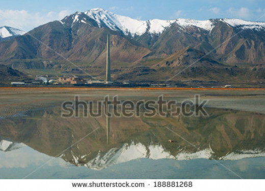 Desalination plant near Salt Lake City, US