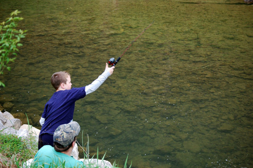 Fishing is a great way for you to bond with your kids while camping.