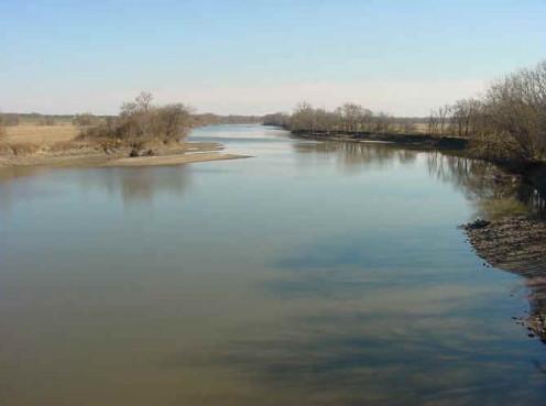 The Des Moines River near Ottawa