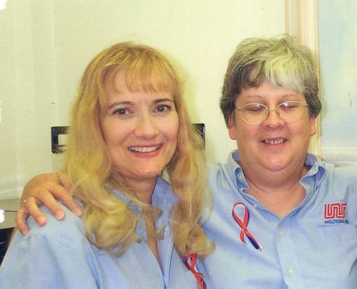 My dear friend Trudy (r) - from 1999