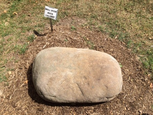 A picture of Moll Dyer rock...at one time the rock was said to have held the imprint of Moll Dyer's frozen hands.