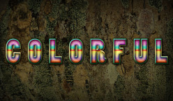 Create Text Effect with Enchanting Colors and Timber Texture in Photoshop