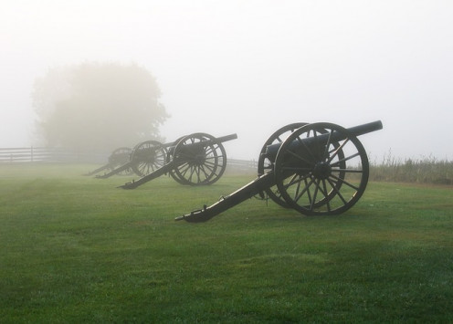 Civil War sites are preserved in the are for historical interest.