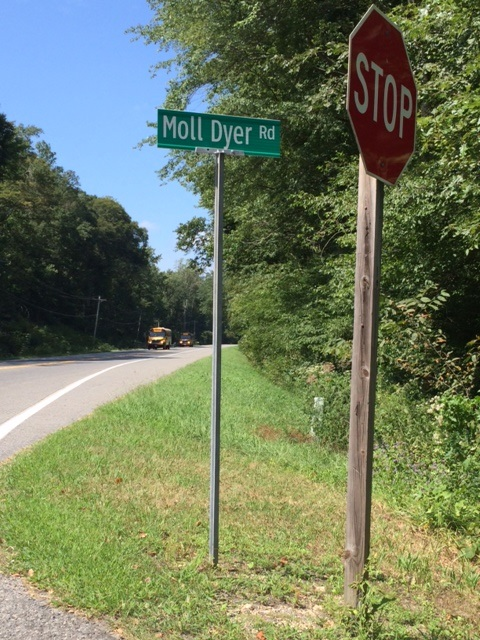 Moll Dyer Road is said to be where most of the sightings are experienced...does Moll still haunt the site of her old cabin?