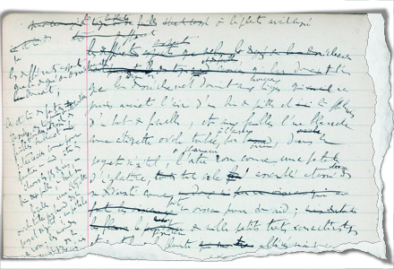 One of Proust's 75 notebooks