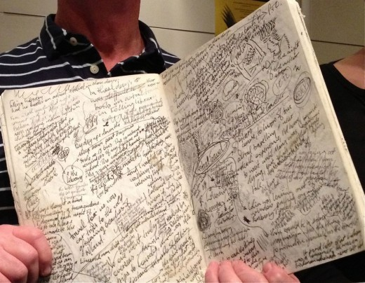"David Almond's notebook for ""Counting Stars"""