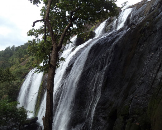 A Nice View of the Waterfalls at Marottichal, Kerala