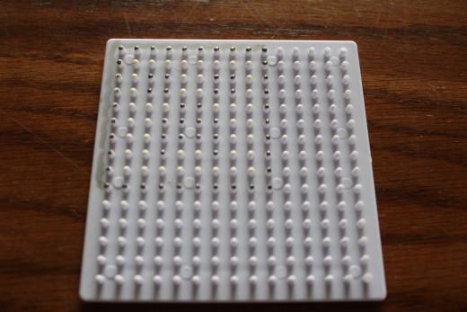 Marked melty bead board
