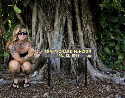 Trick Dicky and wife, Pat planter this tree in 1962 when Nixon was a US Senater