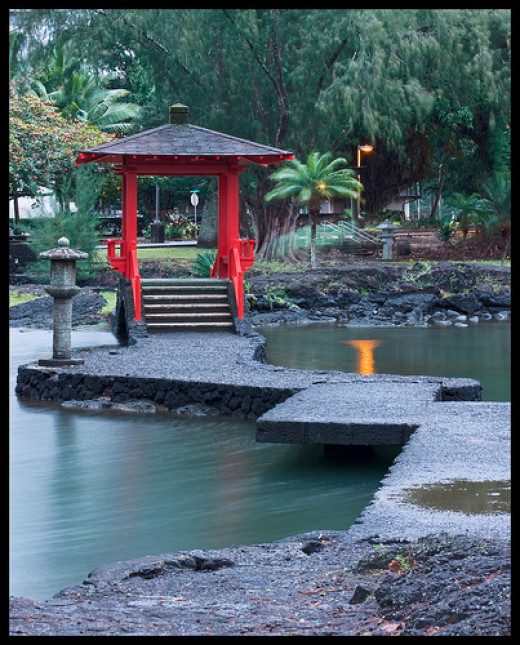 The Japanese Gazebo at Liliuokalani Gardens