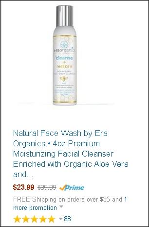 Natural Face Wash by Era Organics