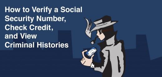 How to verify a social security number, check credit, and view criminal history.