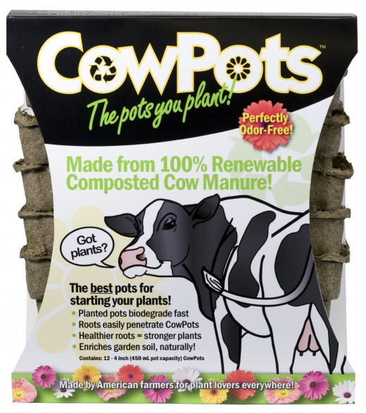 Cow Manure (CP3-12 3-Inch CowPots, 12-Pack)