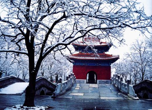 The Ming Tombs in the Winter