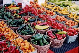 Fresh produce at a Farmers' Market