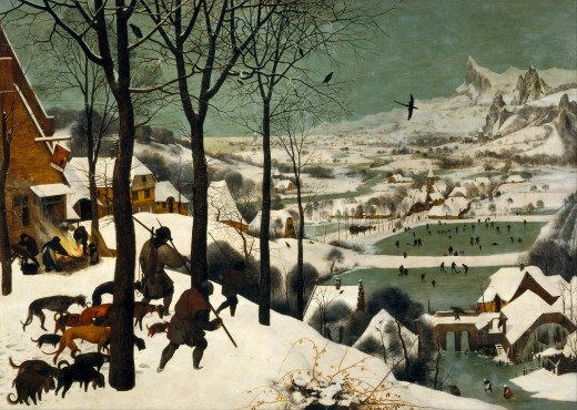 The Hunters in the Snow, 1565, oil on wood