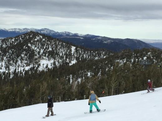 Snowboarders in Tahoe