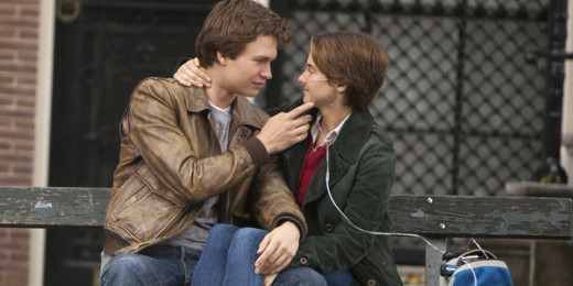 Hazel Grace Lancaster and Augustus Waters share a bittersweet moment.