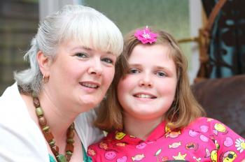 Nicola Howe's hair turned white within seven days of giving birth to her daughter Jade. She was in hospital after the traumatic birth and was dark haired before.