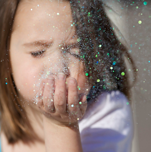 Glitter used to be children's territory.