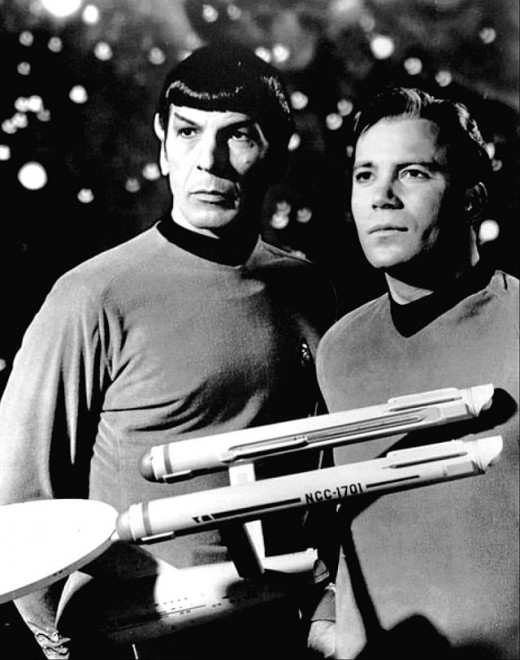 What we looking at Mr Spock? Captain, I do believe that's our ship. Pint sized as it were.
