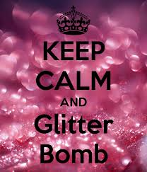 The trend of glitter bombing is a wide-spreading one.