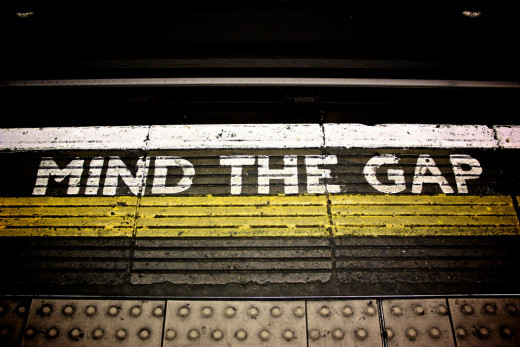 The famous 'mind the gap' tannoy phrase