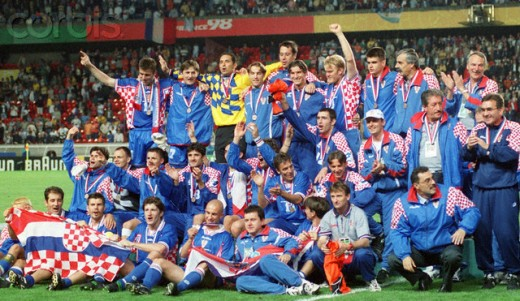 Croatia celebrating their 3rd place in 1998