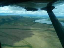 Alaska Yukon Delta from bush plane.