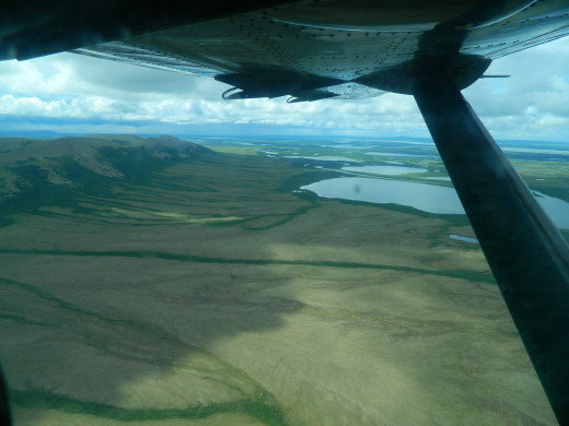 Alaska Yukon Delta from bush plane.