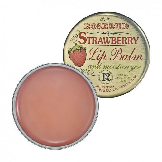 rosebud strawberry lipbalm