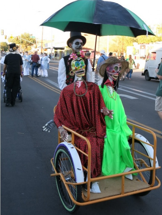 A Man Joining the Parade to Honor His Deceased Parents