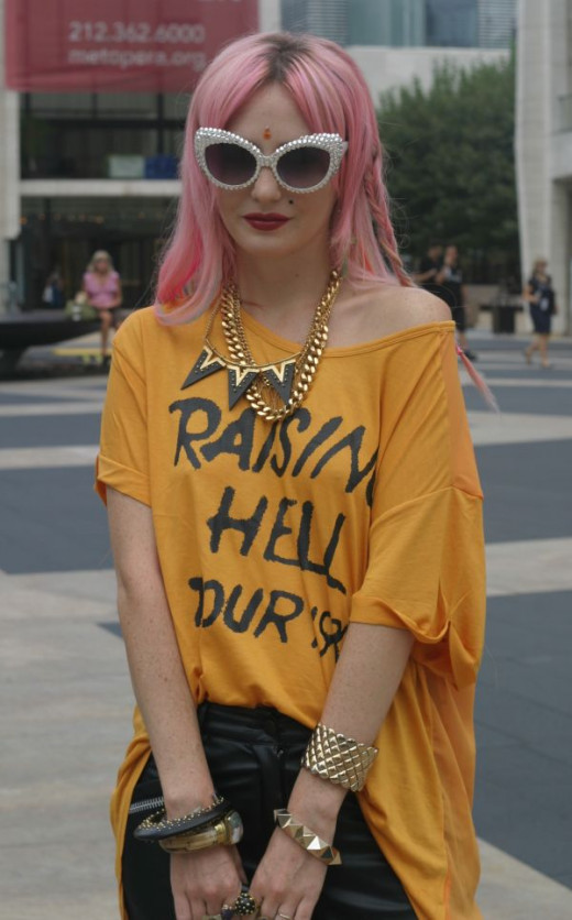 Audrey Kitching at New York Fashion Week in 2013.