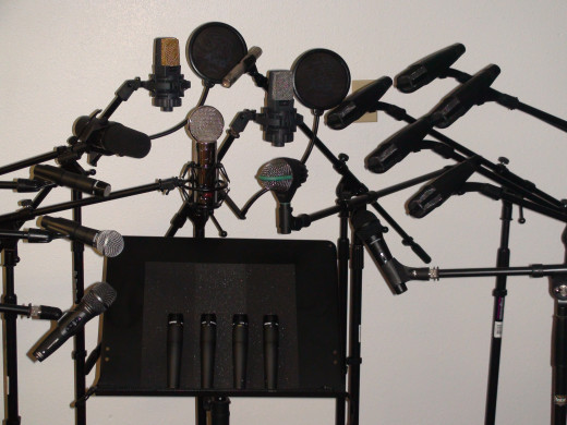 Kings Gambit Recording Studio Microphones for Studio sound, video and live performance.