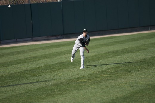 Long toss will utilize same throwing form and lead-ups. I also like to use the crow-hop.