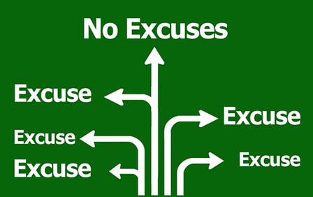 Isn't it time to retire the old excuses and make the effort to chage?