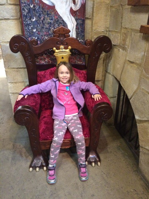 Princess Rea rules her kingdom in the castle [room] at CML